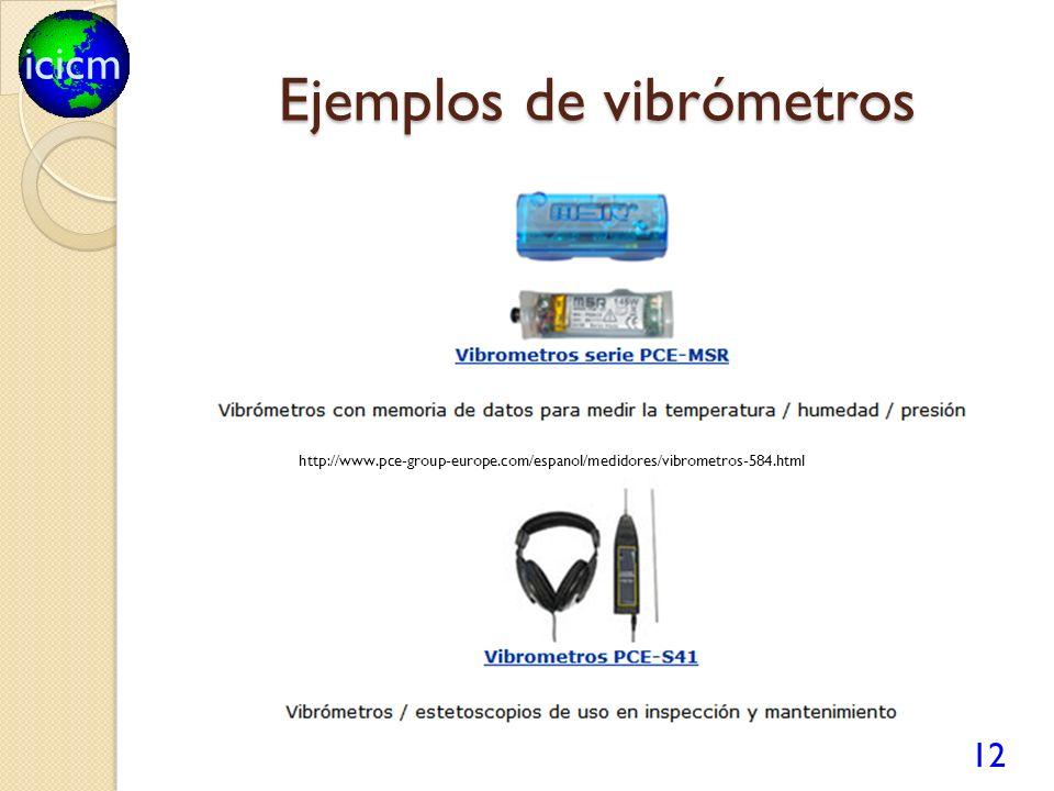 Ejemplos de vibrómetros