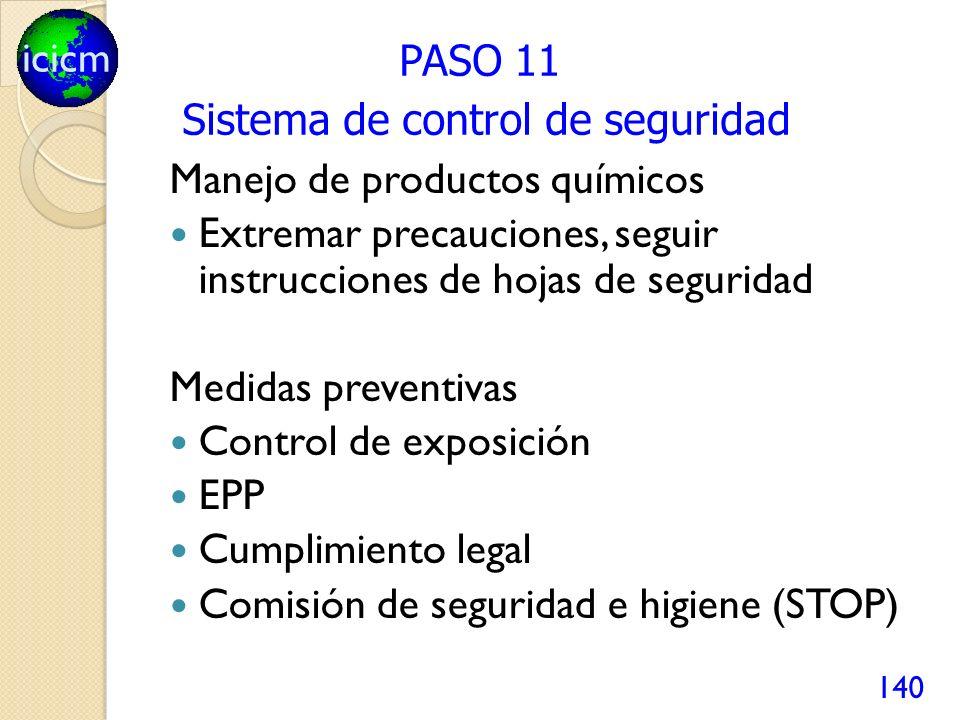 Sistema de control de seguridad