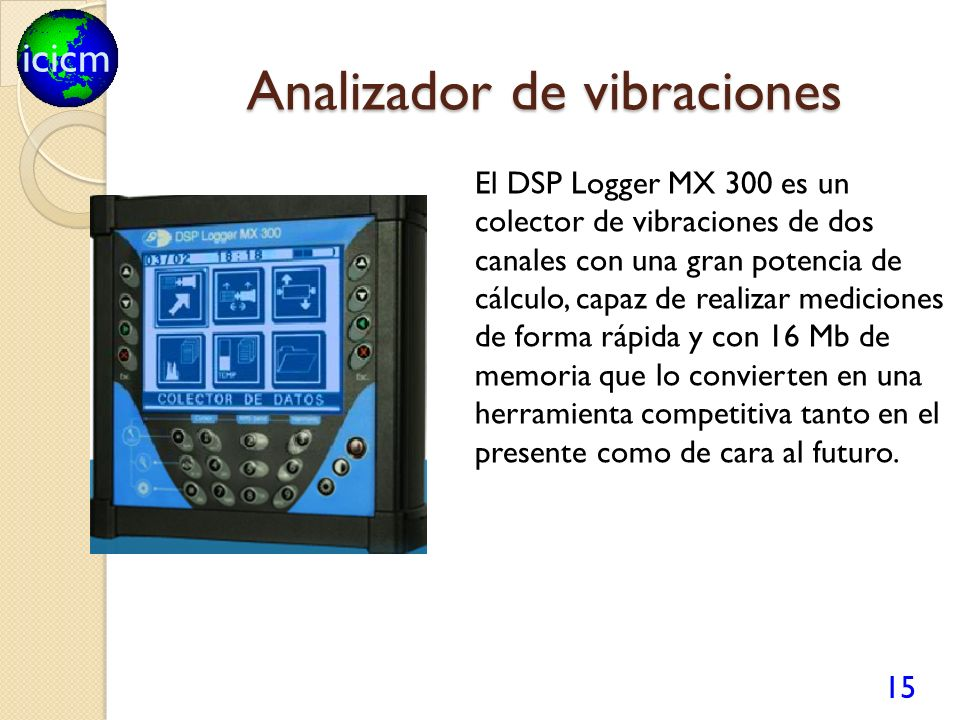Analizador de vibraciones