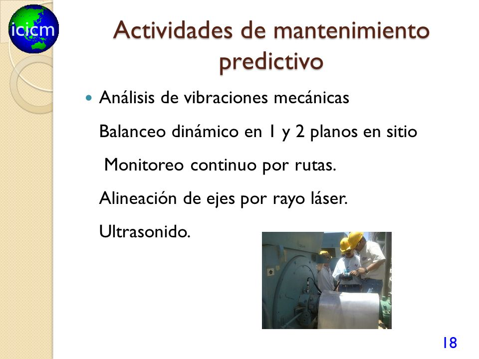 Actividades de mantenimiento predictivo