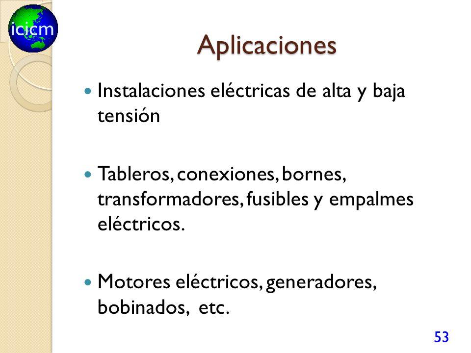 Aplicaciones Instalaciones eléctricas de alta y baja tensión
