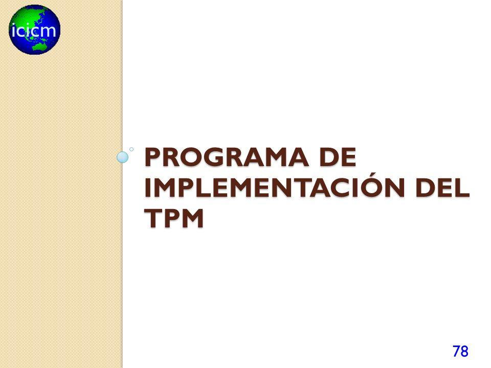 Programa de implementación del TPM