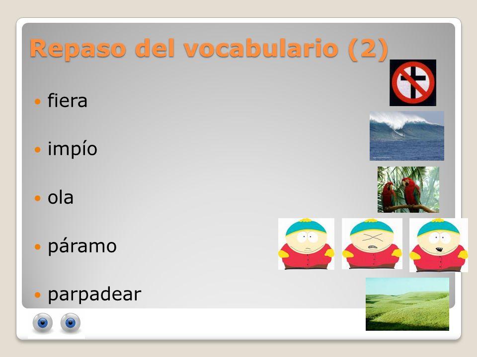 Repaso del vocabulario (2)