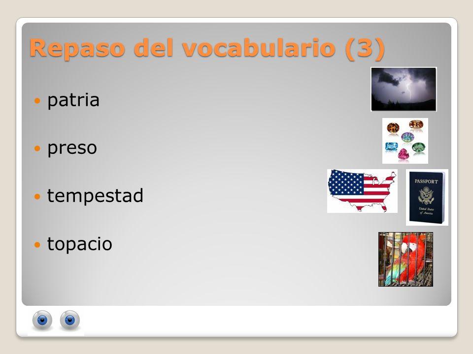 Repaso del vocabulario (3)