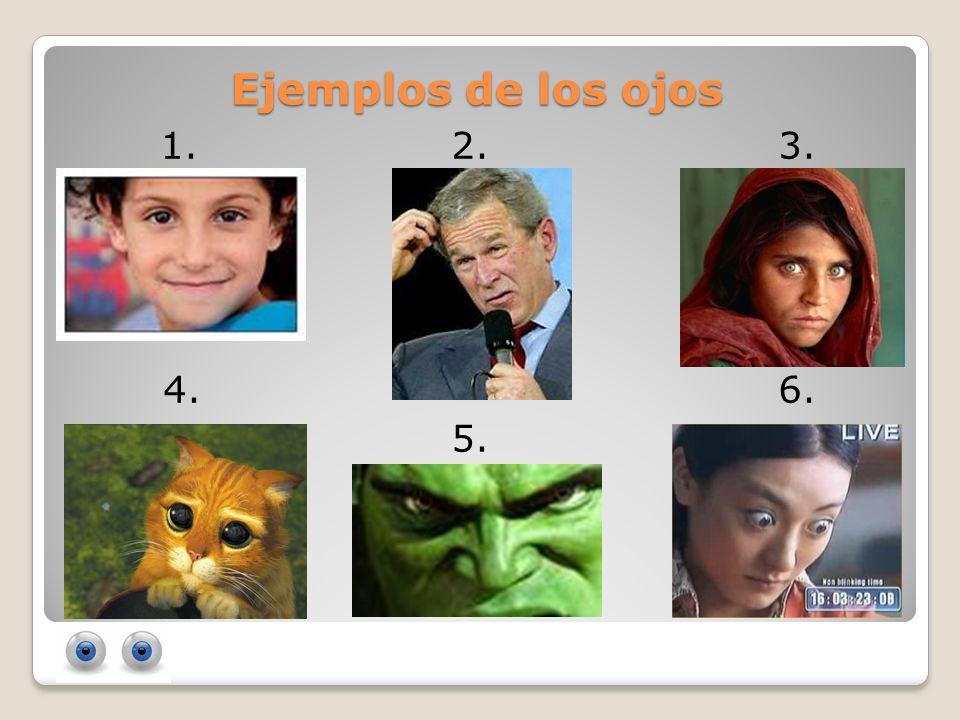 Ejemplos de los ojos 1. 2. 3. 4. 6. 5.