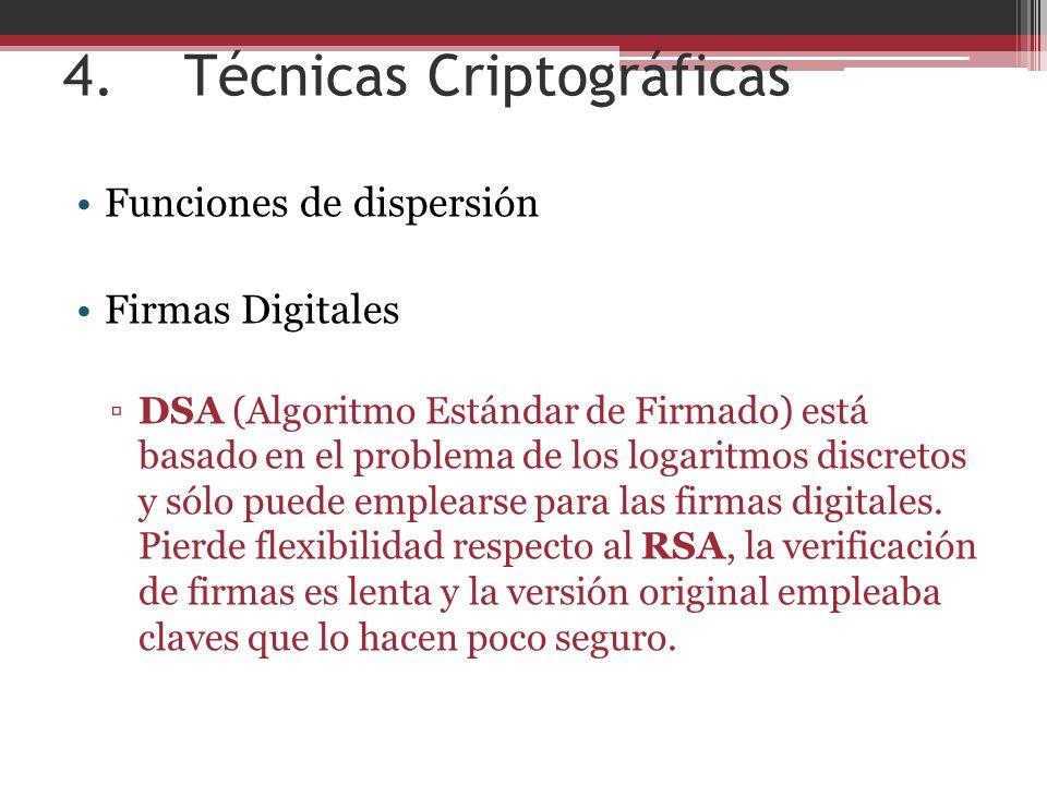 4. Técnicas Criptográficas
