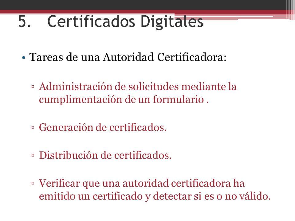 5. Certificados Digitales
