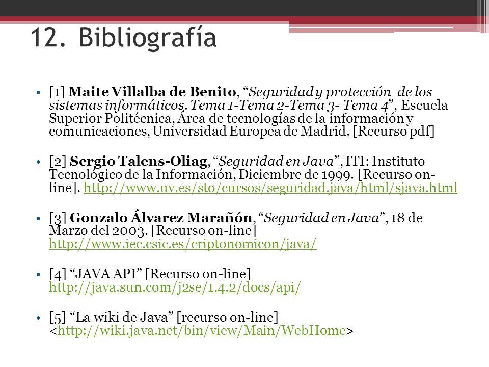 12. Bibliografía