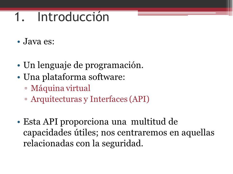 1. Introducción Java es: Un lenguaje de programación.