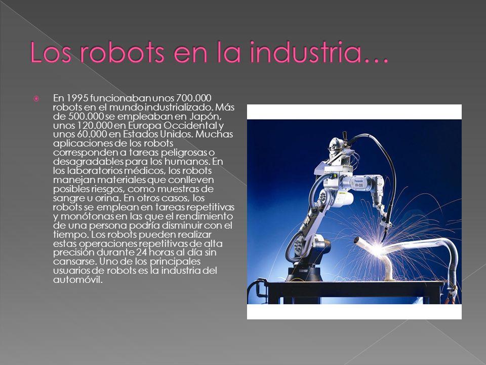 Los robots en la industria…