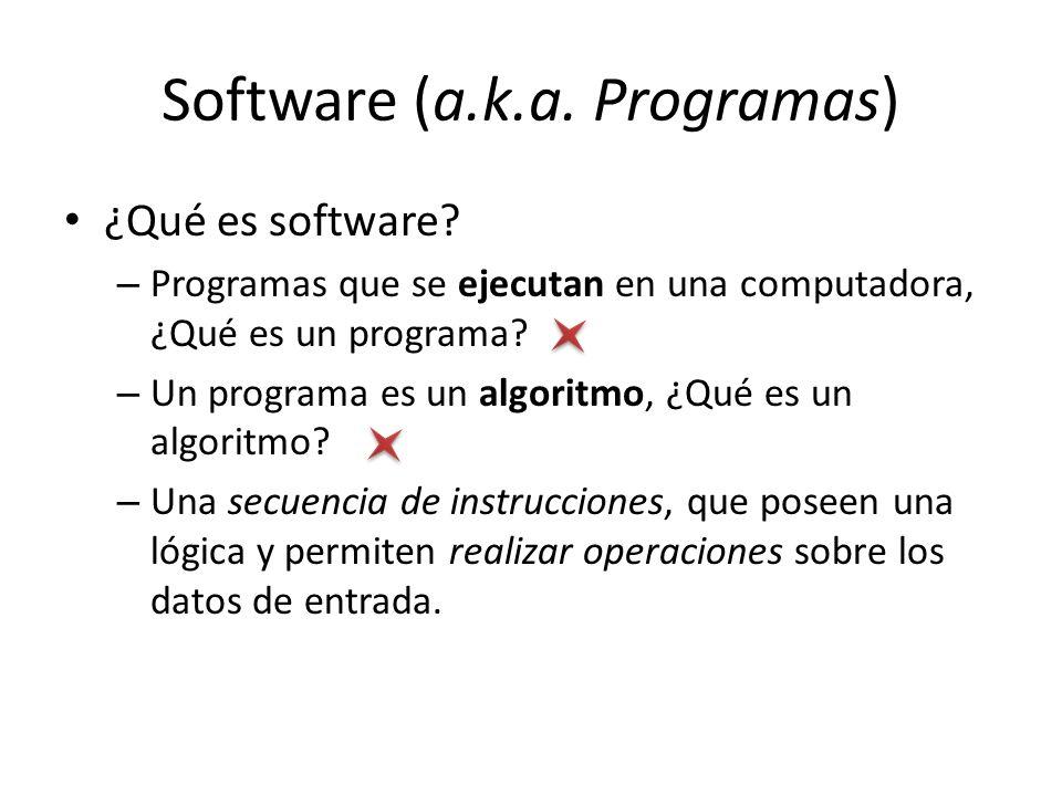 Software (a.k.a. Programas)