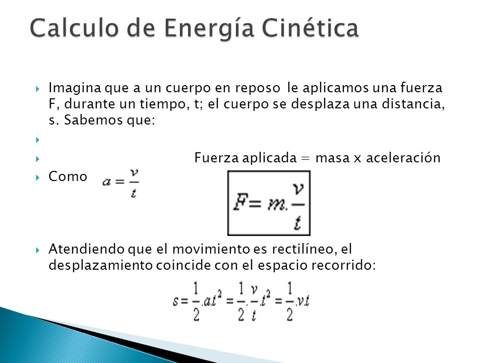 Calculo de Energía Cinética