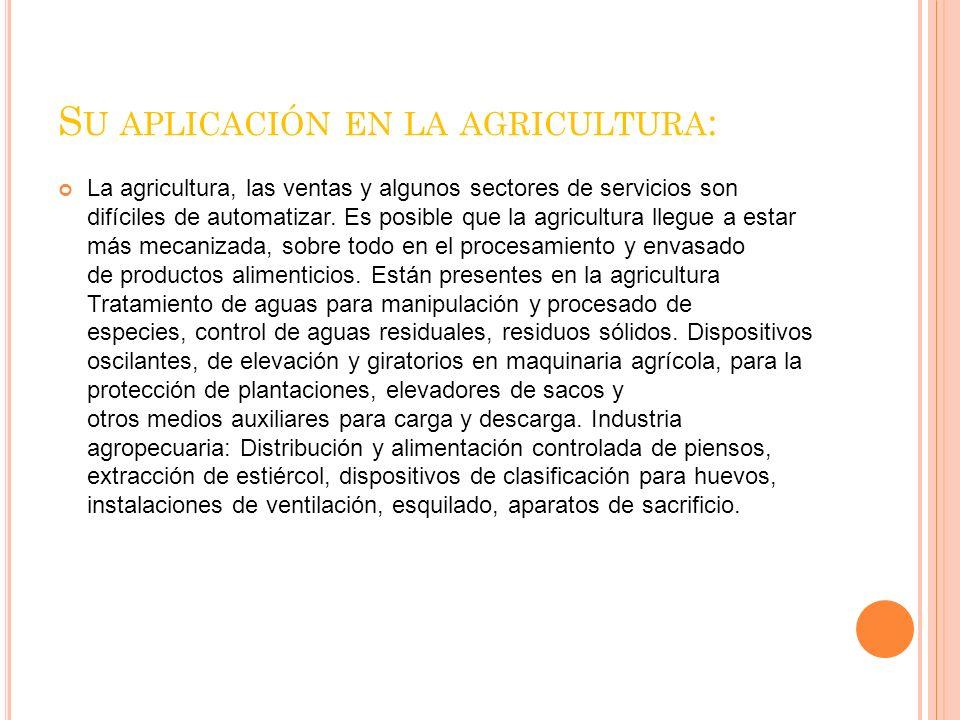 Su aplicación en la agricultura: