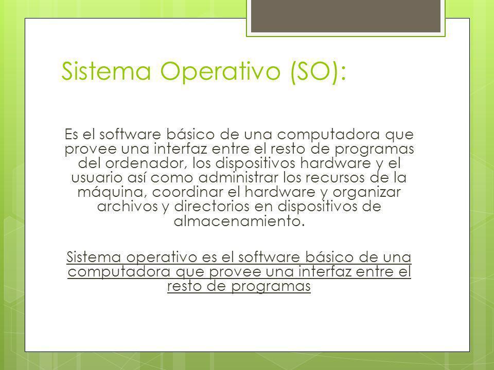 Sistema Operativo (SO):