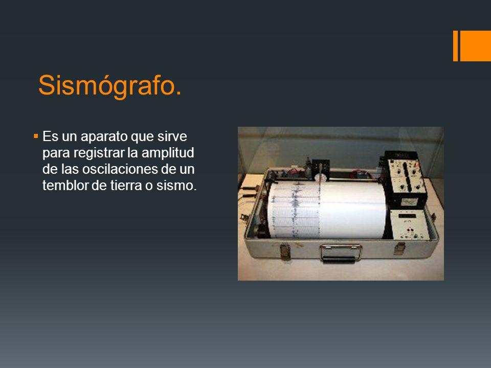 Sismógrafo.