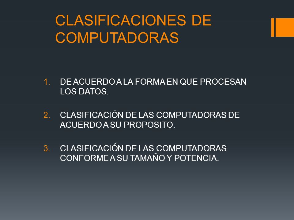 CLASIFICACIONES DE COMPUTADORAS