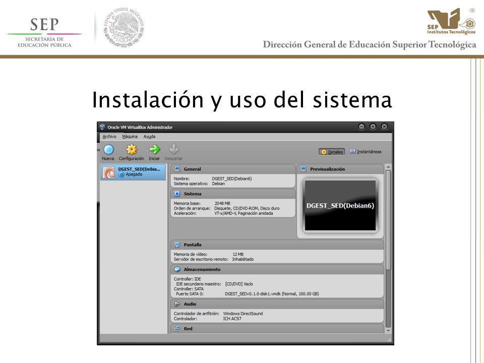 Instalación y uso del sistema