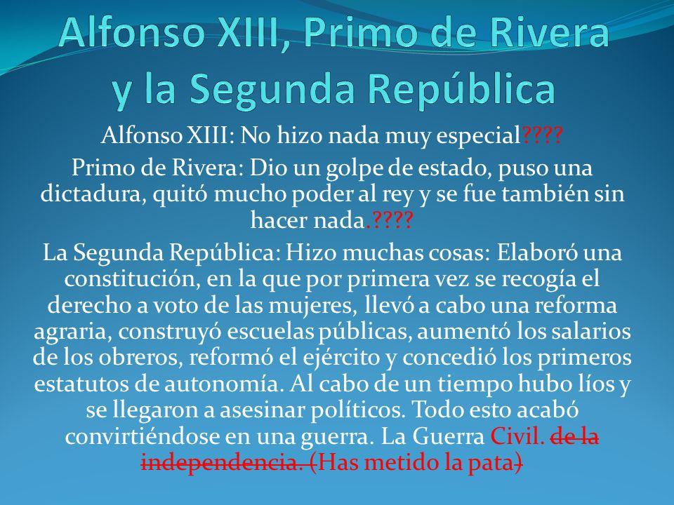 Alfonso XIII, Primo de Rivera y la Segunda República