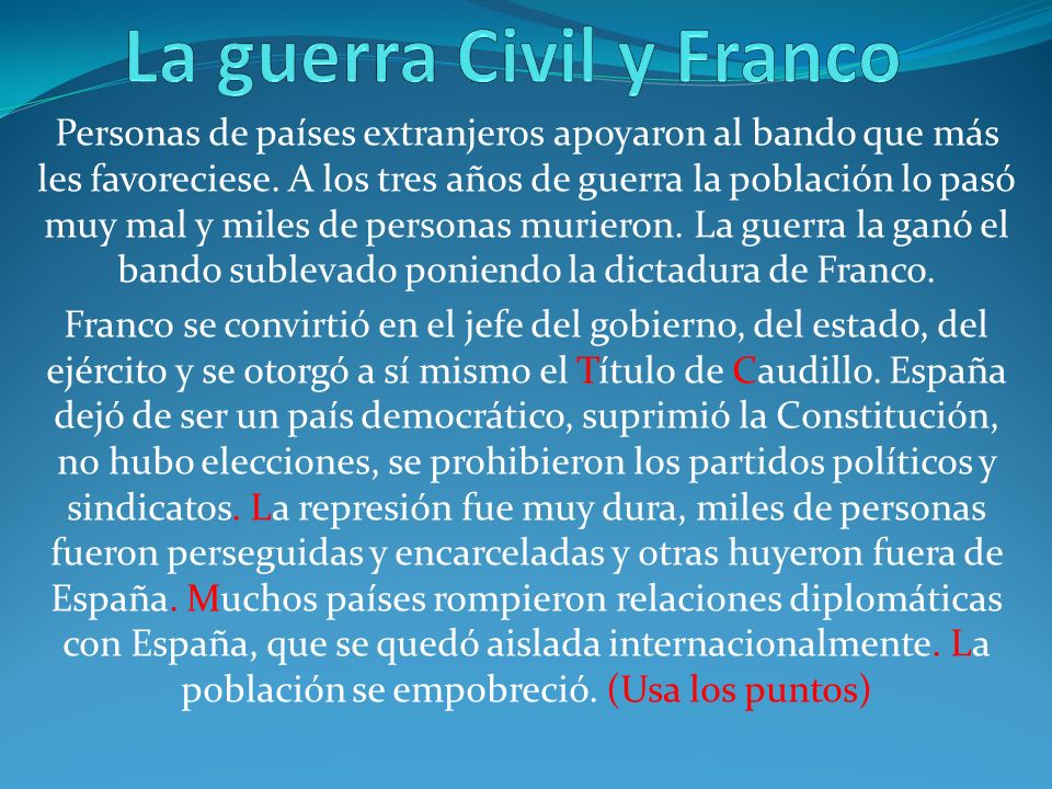 La guerra Civil y Franco