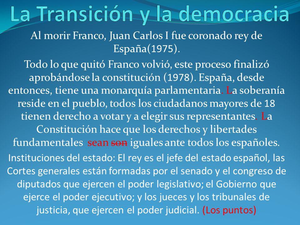 La Transición y la democracia