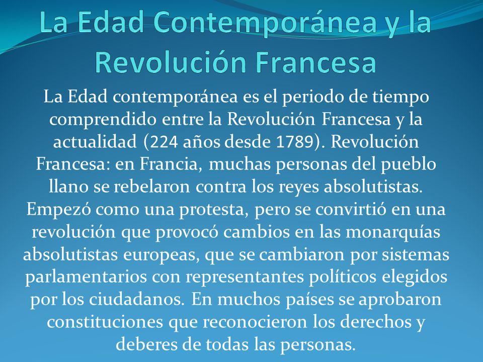 La Edad Contemporánea y la Revolución Francesa