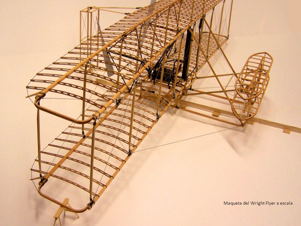 Maqueta del Wright Flyer a escala