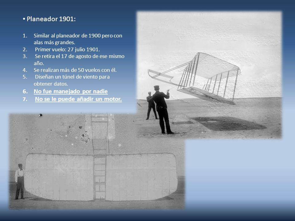 Planeador 1901: No fue manejado por nadie