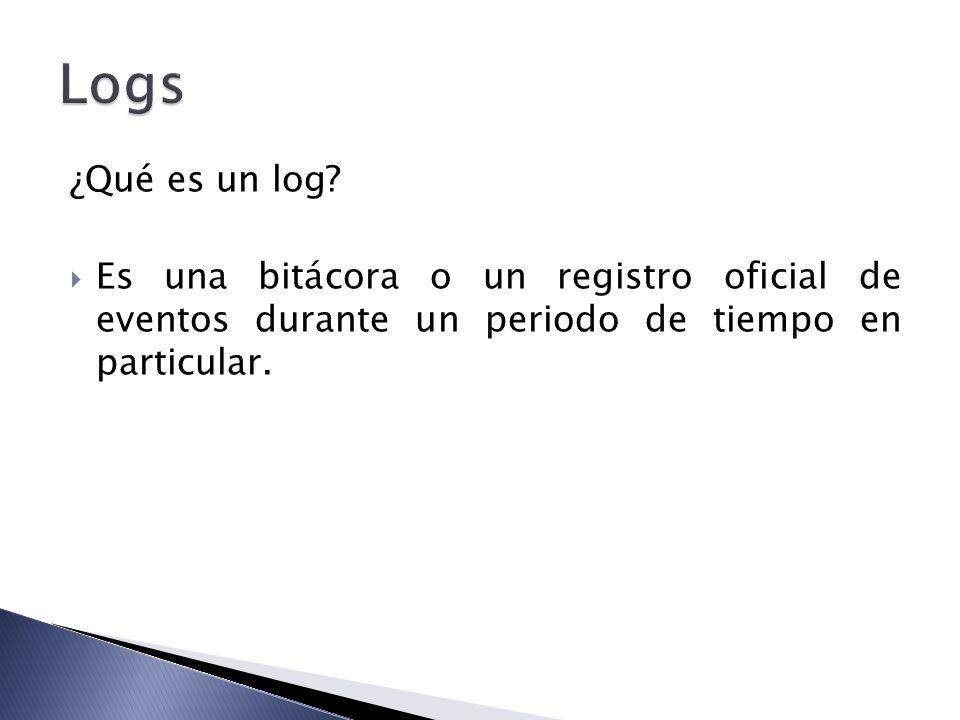 Logs ¿Qué es un log.
