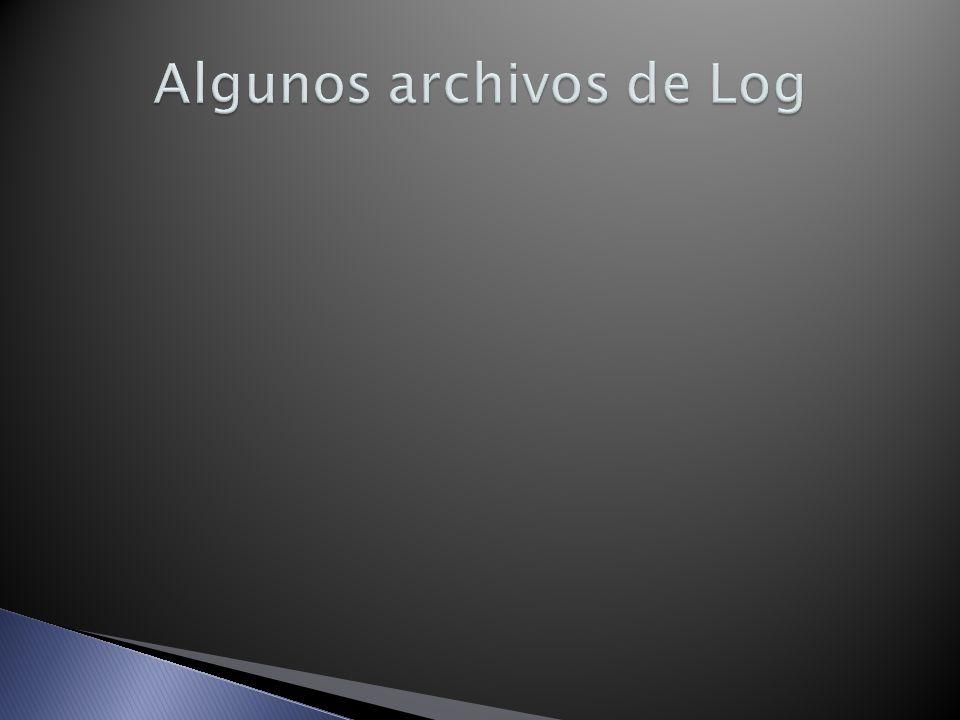 Algunos archivos de Log