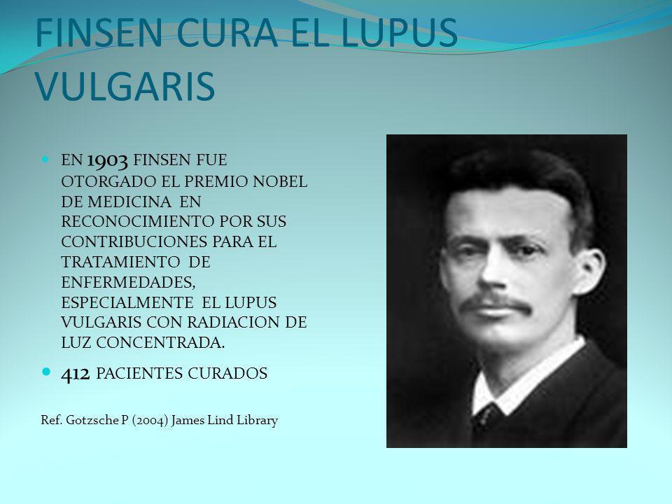 FINSEN CURA EL LUPUS VULGARIS