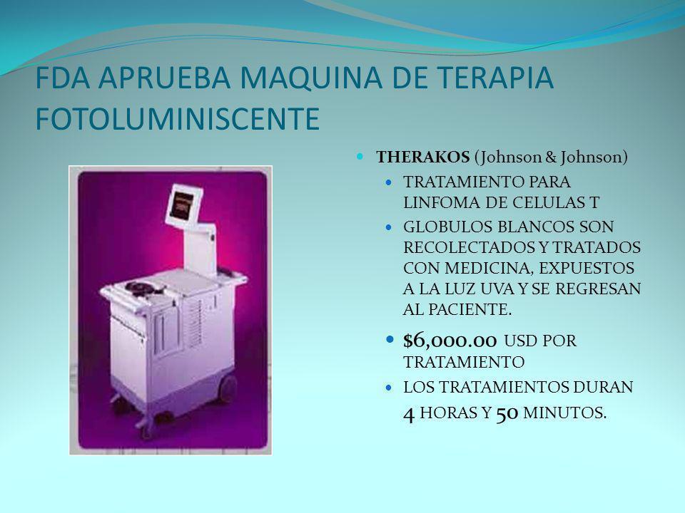 FDA APRUEBA MAQUINA DE TERAPIA FOTOLUMINISCENTE