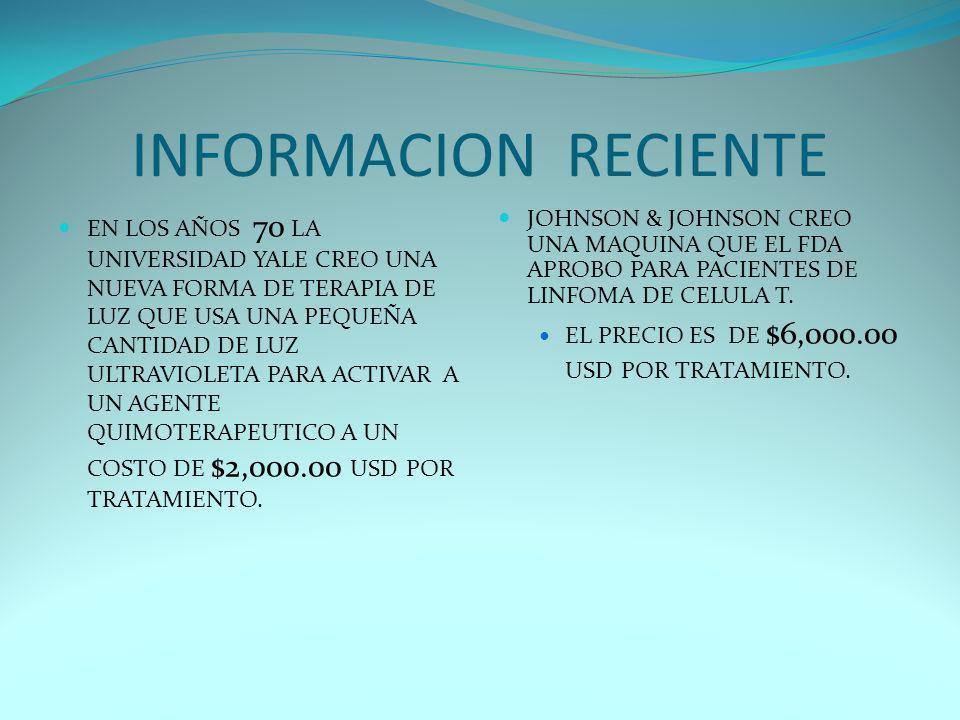 INFORMACION RECIENTE