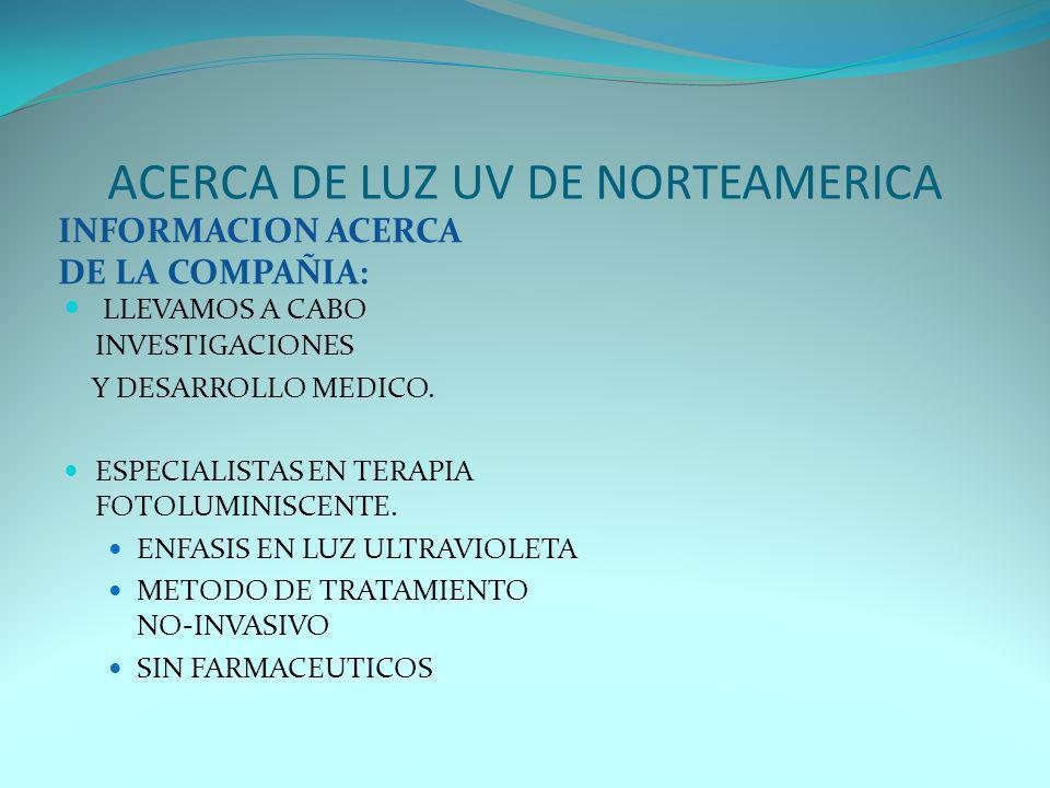 ACERCA DE LUZ UV DE NORTEAMERICA