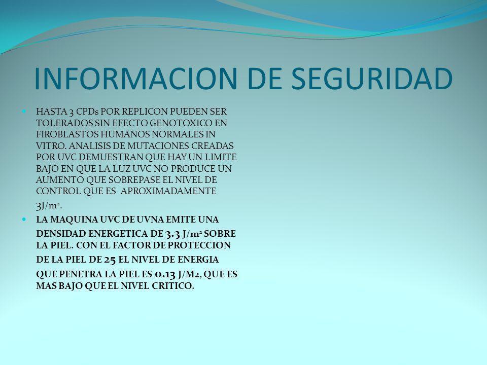 INFORMACION DE SEGURIDAD