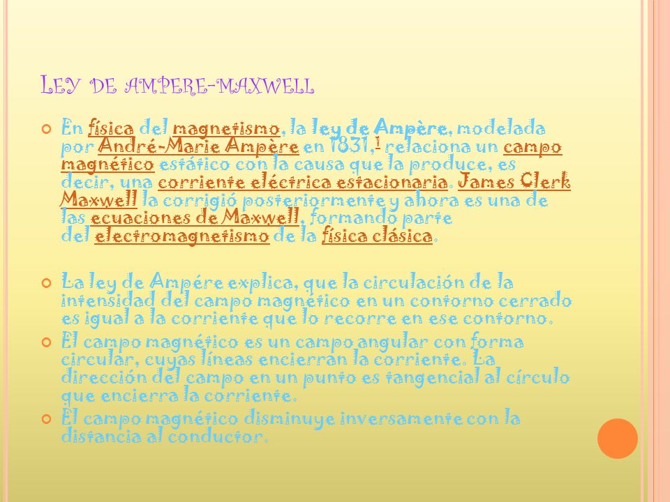 Ley de ampere-maxwell