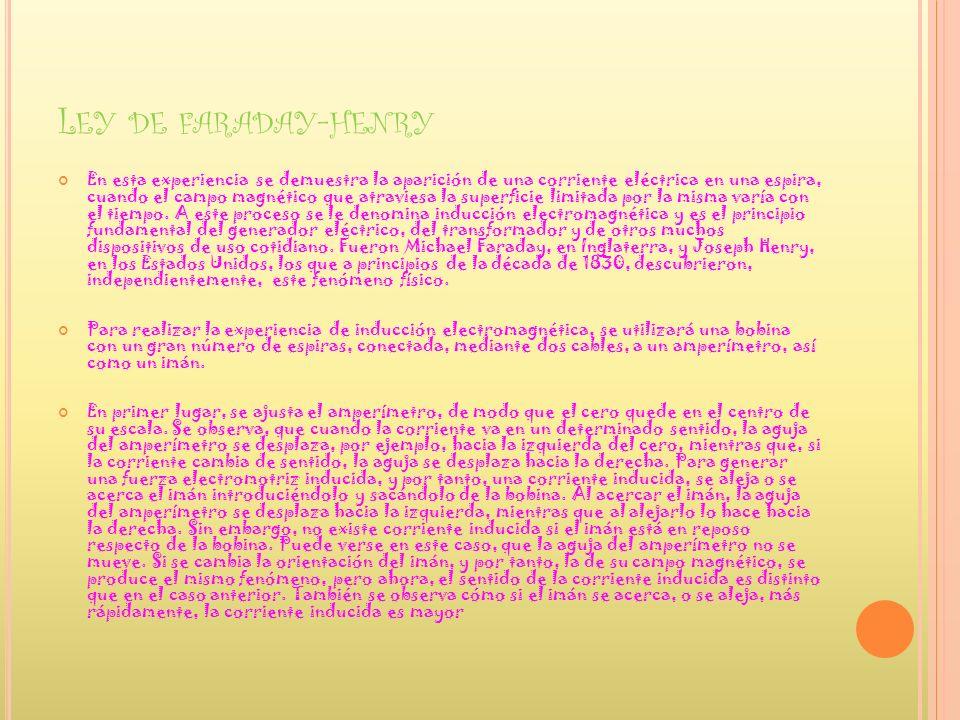 Ley de faraday-henry