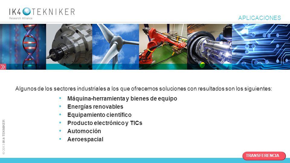 Máquina-herramienta y bienes de equipo Energías renovables