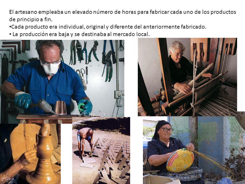 El artesano empleaba un elevado número de horas para fabricar cada uno de los productos