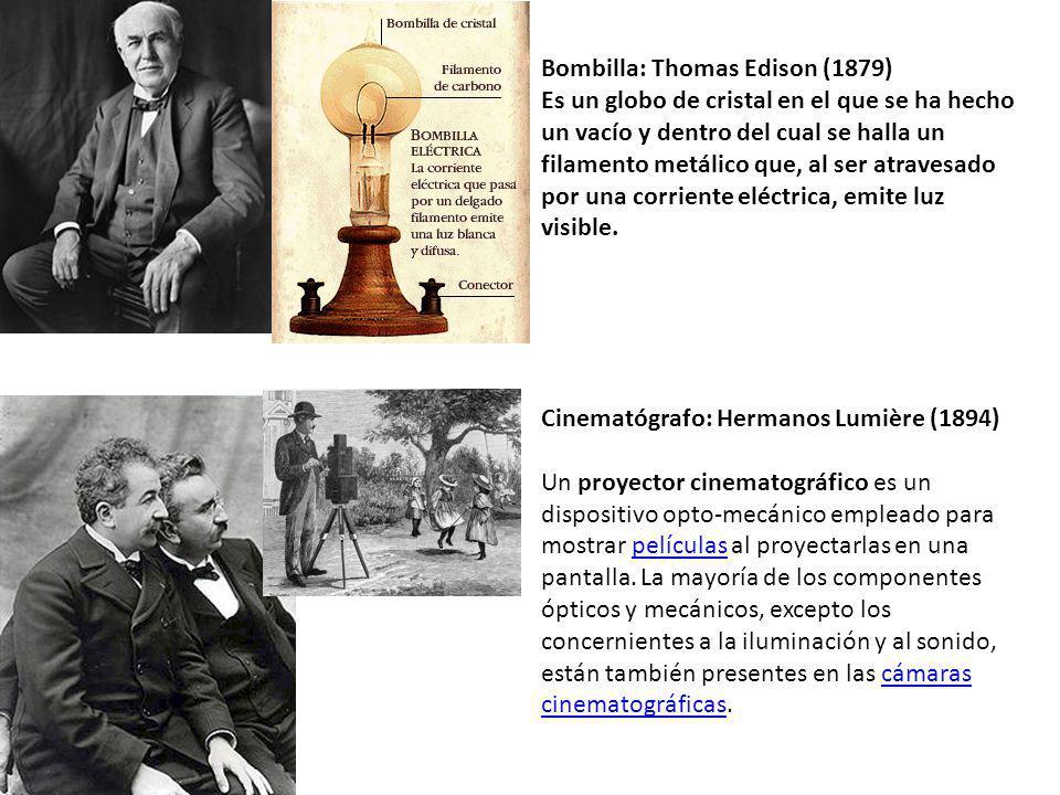 Bombilla: Thomas Edison (1879)
