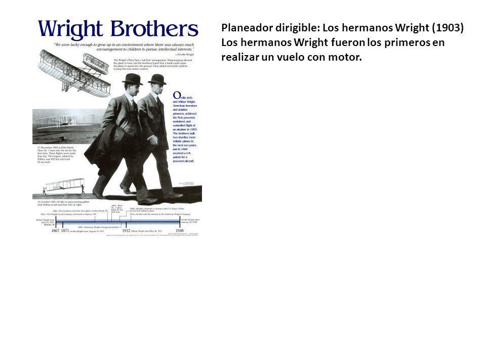 Planeador dirigible: Los hermanos Wright (1903)