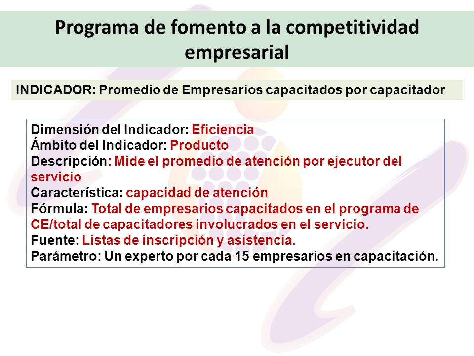 Programa de fomento a la competitividad empresarial