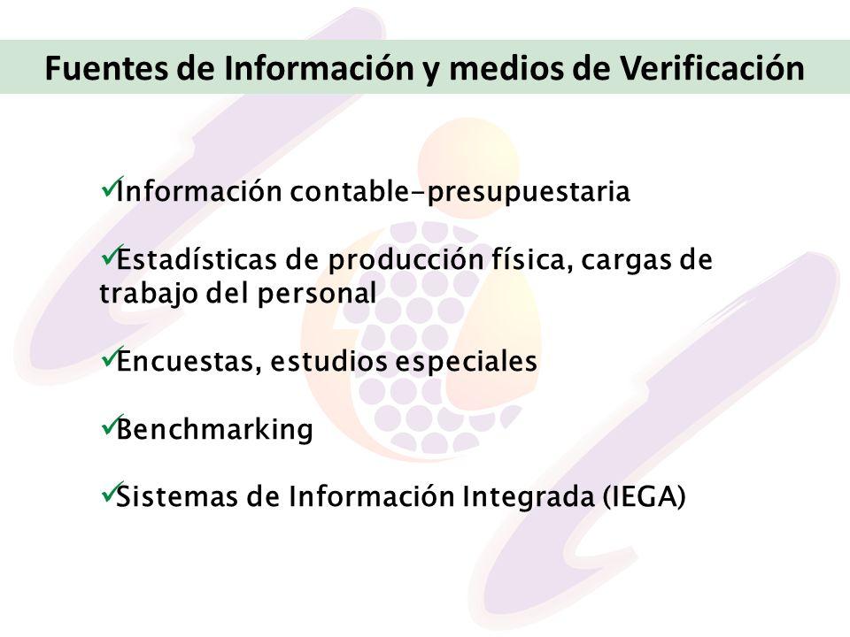 Fuentes de Información y medios de Verificación