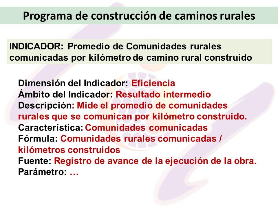 Programa de construcción de caminos rurales