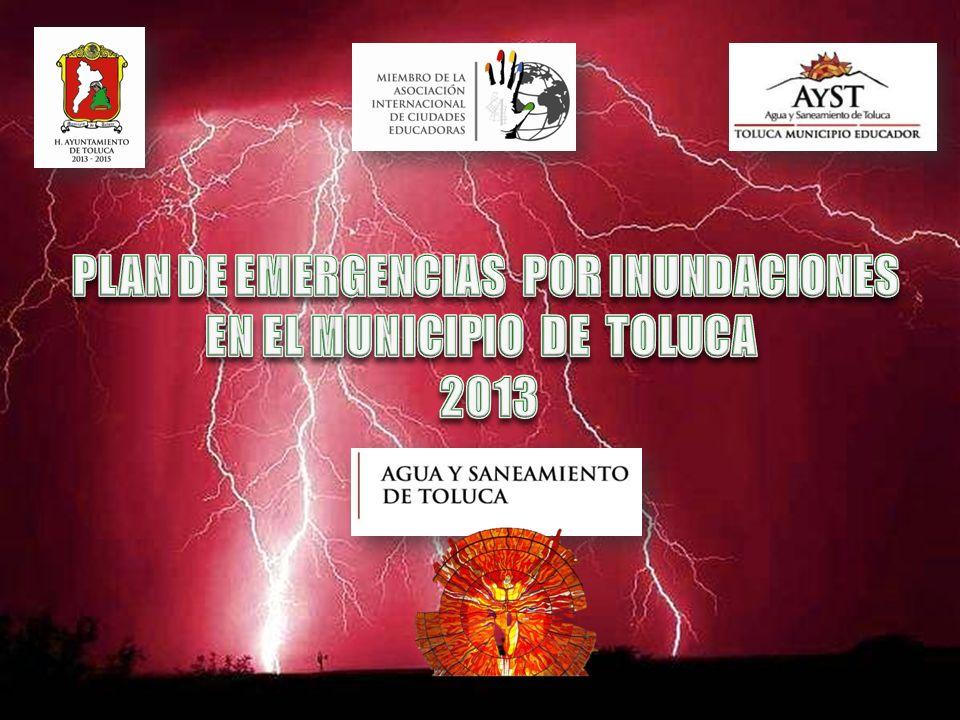 PLAN DE EMERGENCIAS POR INUNDACIONES EN EL MUNICIPIO DE TOLUCA