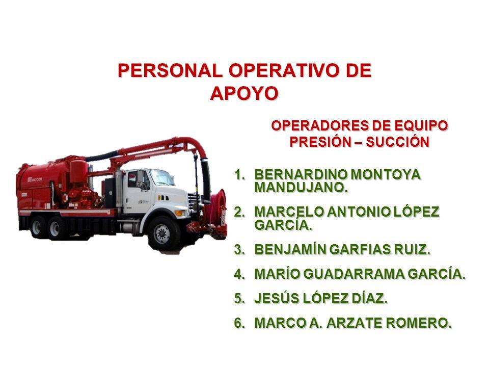 PERSONAL OPERATIVO DE APOYO