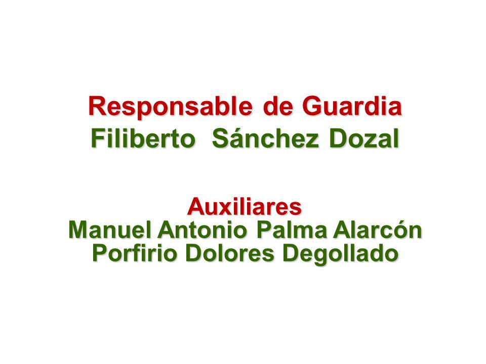 Responsable de Guardia Filiberto Sánchez Dozal
