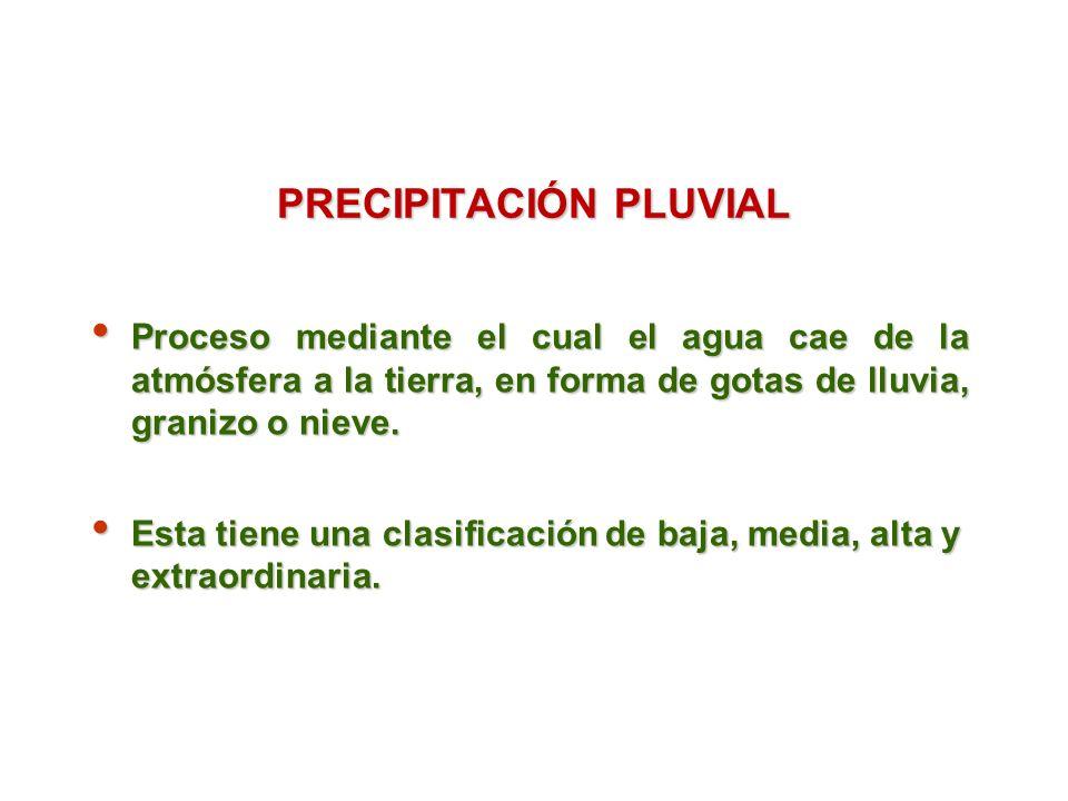 PRECIPITACIÓN PLUVIAL