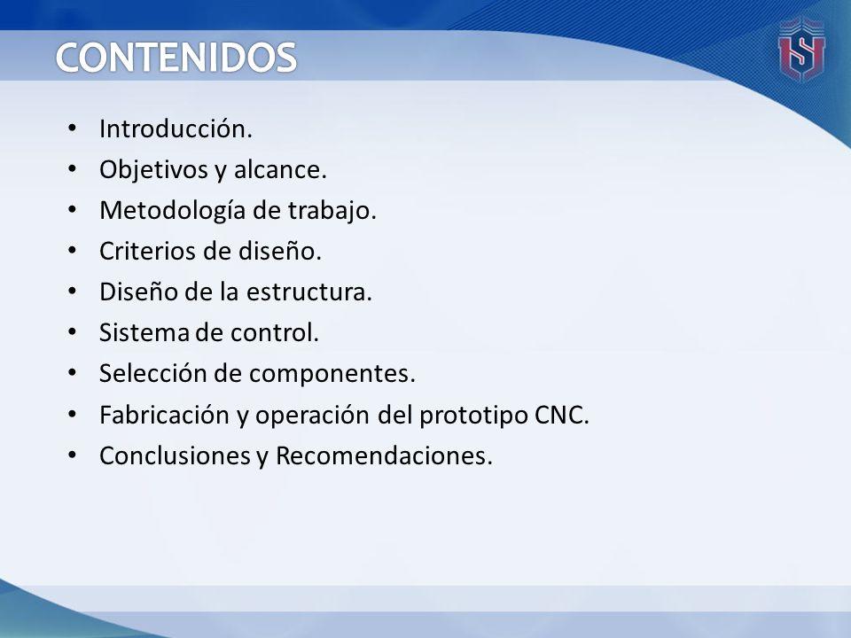 CONTENIDOS Introducción. Objetivos y alcance. Metodología de trabajo.