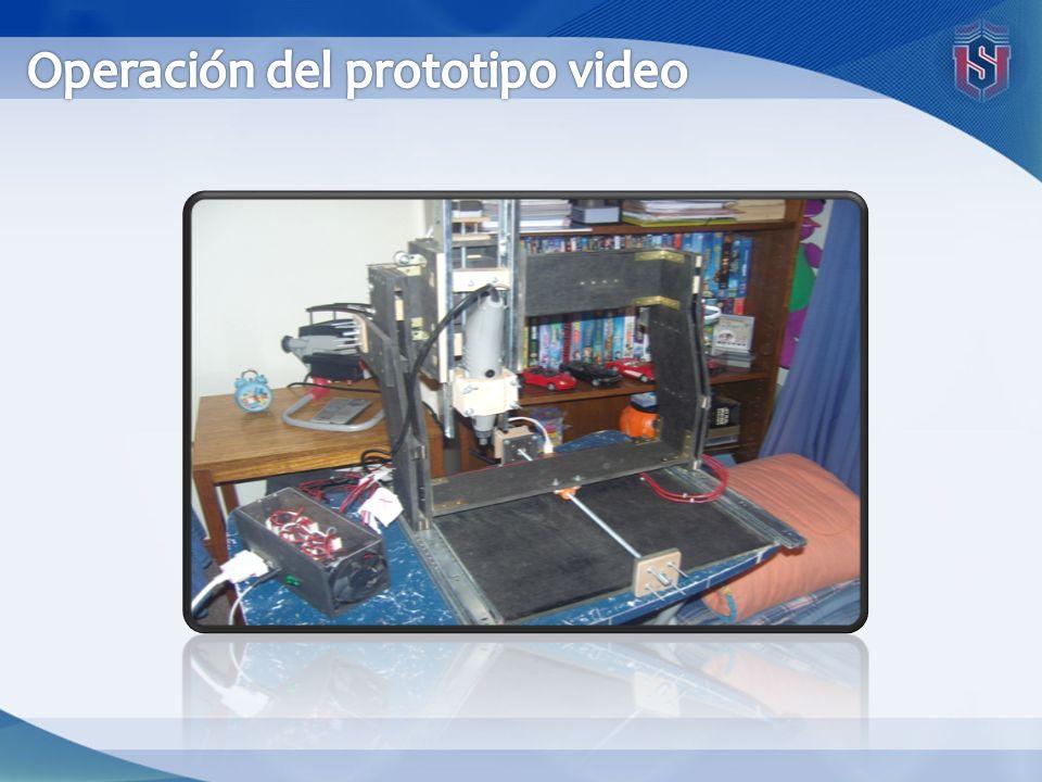 Operación del prototipo video