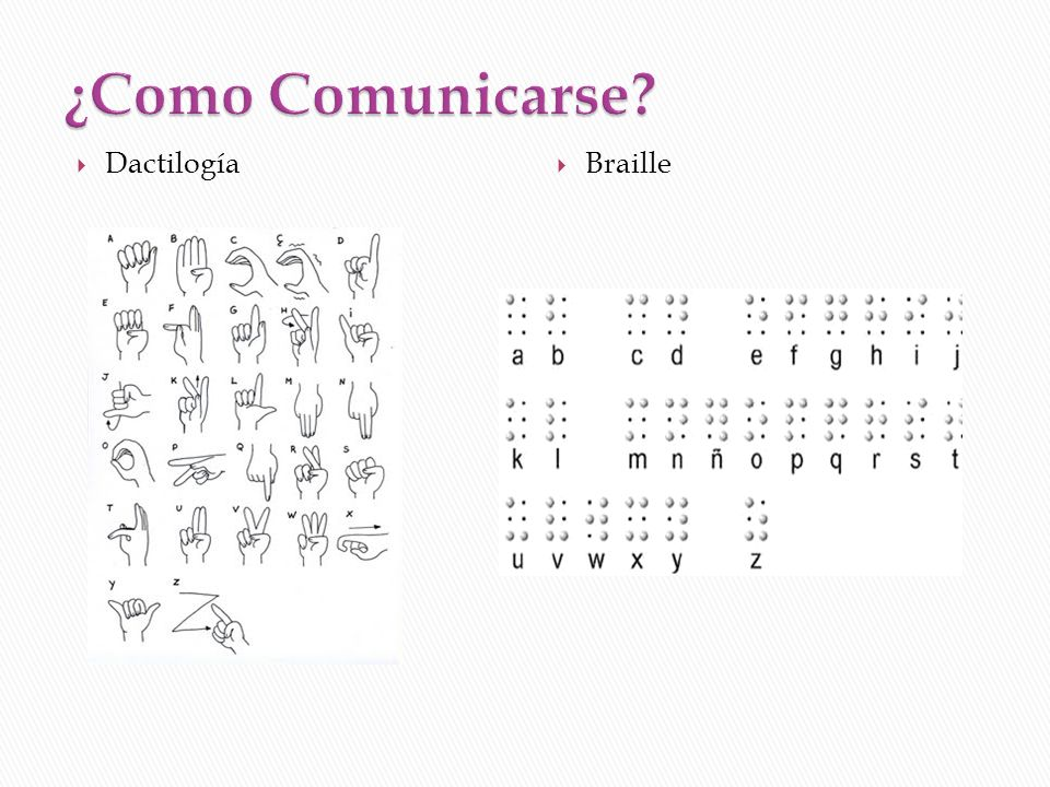¿Como Comunicarse Dactilogía Braille